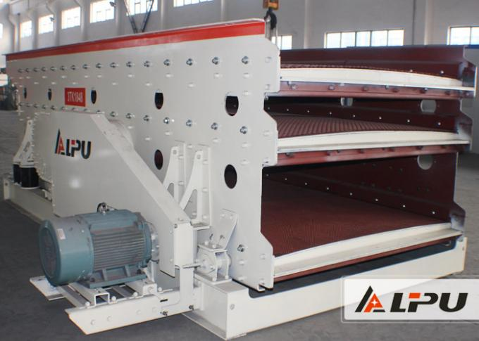 3 Layer Elliptic Vibrating Screening Machine In Mineral Screening Plant