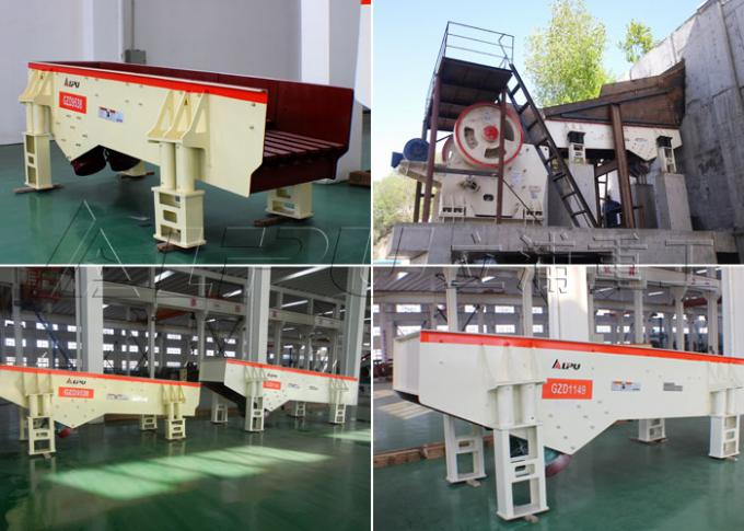 High Feeding Capacity Vibrating Feeder Machine For Stone Crushing Plant , CE Standard