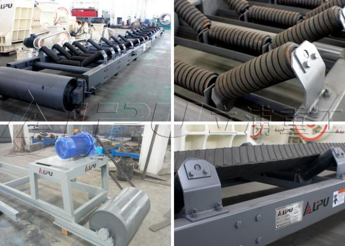 Big Conveying Capacity Material Handling Conveyors For Construction , 1200mm Belt Width