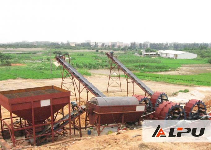 Professional Spiral Sand Washer / River Sand Plant Equipment With 10mm Max Input