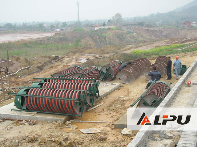 High Recovery Ore Dressing Plant Spiral Chute Gravity Separator
