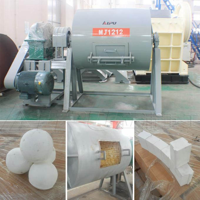 Alumina Ceramic Lined Ball Mill in Mineral Separation , Final Product 0.1-0.074mm