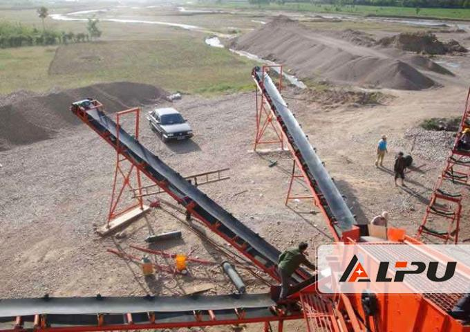 Model B1200 Coal Mine Aggregate Belt Conveyor Large Conveying Capacity