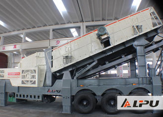 China 160kw Stone Crusher Plant / Mobile Impact Crusher And Vibrating Screen supplier