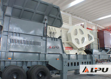 China Easy Operation Mobile Stone Crusher Plant For Road Building 80kw supplier
