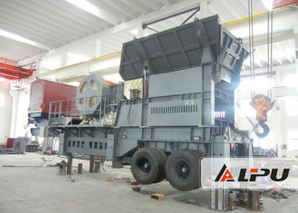 China Customized Two Stage Mobile Crushing Plant / Mobile Jaw Crusher For Mining supplier