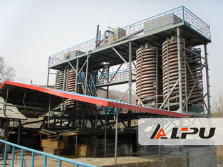 China High Recovery Ore Dressing Plant Spiral Chute Gravity Separator supplier