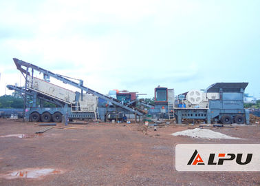 China Multi - Purpose Combined Mobile Crushing Plant / Mining Crusher Equipment supplier