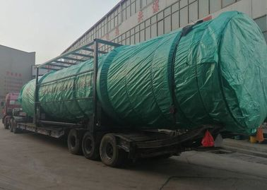 China Sticky Chemical Sludge Drying System , Rotary Drum Dryer Machine 30kw Power supplier