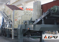 Portable Combined Mobile Stone Crusher Plant With Double - Axle Tyre