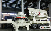 China Energy Efficient Adjustable Mobile Cone Crusher / Sand Crushing Plant factory
