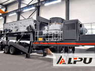 China High Flexibility Mobile Cone Crushing Plant For Road And Bridge Construction factory