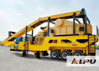 China Portable Mobile Crushing Plant , Metallurgy Ore Mine Cone Crusher Plant factory