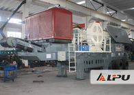 China Wheel Type Mobile Crushing Plant and Screening Station , Potable Jaw Crusher in Quarry factory