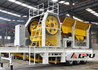 China Simple Operation  Mobile Stone Crusher Machine , Mobile Jaw Crushing Plant in Mining Metallrugy factory