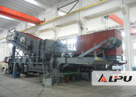 China Trailer Mounted Mobile Crushing Plant , Double Axle Portable Stone Crusher factory
