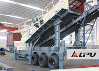 China Wheel Type Axle Complete Mobile Crushing And Screening Plant , Mobile Rock Crusher factory