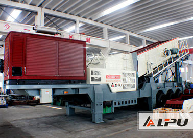 China Wheel Type Mobile Crushing Plant and Screening Station , Mine Crusher distributor