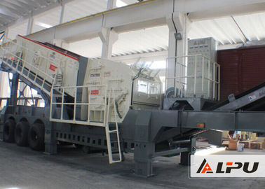 China Small Impact Crusher Mobile Crushing Plant , Transport Width 3000m distributor