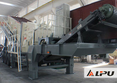 China Large Capacity Mobile Impact Crushing Plant / Stone Crushing Machinery distributor