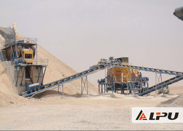 China Eco - Friendly Wheel Type Stationary Stone Crushing Plant For Quarry factory