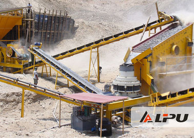 China High Crushing Ratio Basalt Stone Crushing Plant for Road / Bridge Construction factory