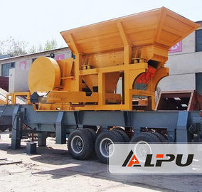 China LIPU Portable Mobile Crushing Plant , Primary Stone Gravel Rock Concrete Jaw Crusher distributor